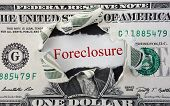 image of rip  - Foreclosure text in red with ripped dollar bill - JPG