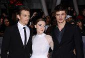 LOS ANGELES - NOV 11:  Jake Abel, Saoirse Ronan & Max Irons arrives to the