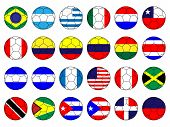 image of south american flag  - Footballs with the flags of South American countries - JPG