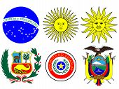 image of south american flag  - Coats of Arms of South America Flags - JPG