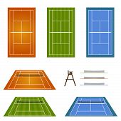 Set Of Tennis Courts 2
