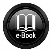 book black icon e-book sign