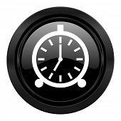 alarm black icon alarm clock sign