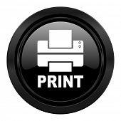 printer black icon print sign