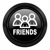 friends black icon