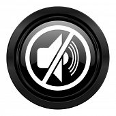 mute black icon silence sign