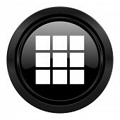 thumbnails grid black icon gallery sign