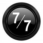 7 per 7 black icon