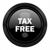 tax free black icon