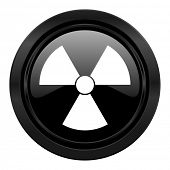 radiation black icon atom sign