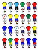 Americas Jerseys Football Kits Pencil Style