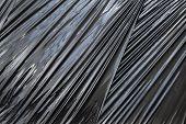Black Polyethylene Packing Film Background Texture