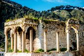 picture of albania  - Old ruins in Berat city - JPG