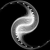 Постер, плакат: Design Monochrome Whirlpool Movement Background