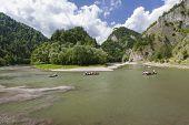 pic of pieniny  - Dunajec River in Pieniny Mountains at the Polish - JPG