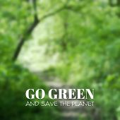 foto of save earth  - Vector blurred background - JPG