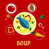 pic of fish icon  - Cooking fish soup with fish - JPG