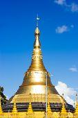 image of yangon  - Gold Pagodas Shrines and Statues at the Buddhist Shwedagon Paya in Yangon Myanmar  - JPG