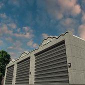 foto of self-storage  - Illustration of a modern storage concrete units - JPG
