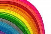 image of strip  - Paper strips in rainbow colors as a colorful backdrop - JPG