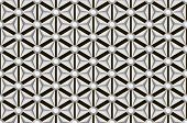 stock photo of optical  - Black and white seamless repetitive and reflecting diamond facets pattern - JPG