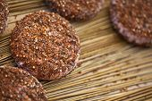stock photo of stall  - Close up of spicy goat cheese on a market stall - JPG