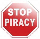 stock photo of stop fighting  - piracy stop illegal download and copying copyright and intellectual property protection protect copy of trademark brand - JPG