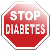 stock photo of obese  - stop diabetes health prevention for obesity sugar free diet - JPG