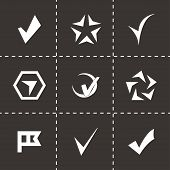 stock photo of confirmation  - Vector confirm icons set on black background - JPG