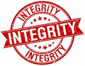 pic of integrity  - integrity grunge retro red isolated ribbon stamp - JPG