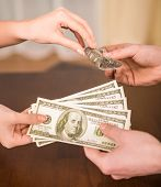 stock photo of trade  - Money for drugs - JPG
