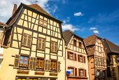 image of timber  - Traditional timbered houses in Ribeauville  - JPG