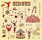 picture of aerialist  - Circus Ticket on tree background - JPG