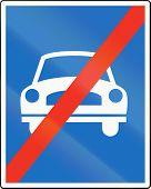 pic of traffic rules  - Austrian traffic sign - JPG