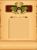 picture of hop-plant  - menu or background with grain stack - JPG