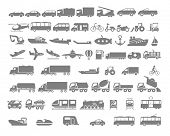 picture of motor-bus  - Vehicle and Transportation flat icon set - JPG