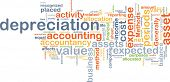pic of depreciation  - Background text pattern concept wordcloud illustration of depreciation accounting - JPG