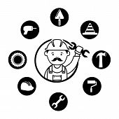 image of rectifier  - mechanical design over white background vector illustration - JPG