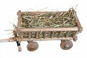 Cart, Vehicle, Toy, Hay.