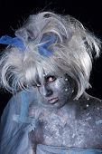 image of faerie  - Model with stage makeup - JPG