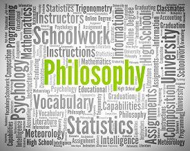 image of philosophy  - Philosophy Word Indicating Wisdom - JPG