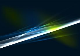 pic of star shape  - Abstract color glowing lines in dark space with stars and light effects - JPG