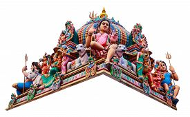 picture of hindu  - Hindu God Statues At A Hindu Temple in isolated - JPG