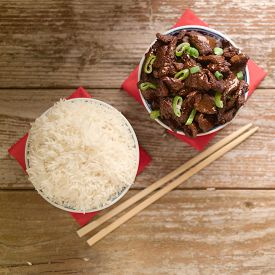 stock photo of soy sauce  - Concept of Chinese food - JPG