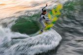 Surfer Blur: Yellow & Green Board