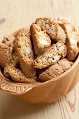 Italian Cantuccini Cookies In Bowl