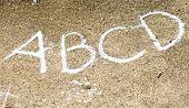 Chalk Writing On Concrete