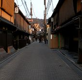 Gion Street At The Dusk poster