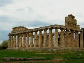 Greek Temples In Paestum Italy