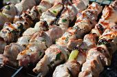 stock photo of souvlaki  - Greek traditional meat barbecue  - JPG